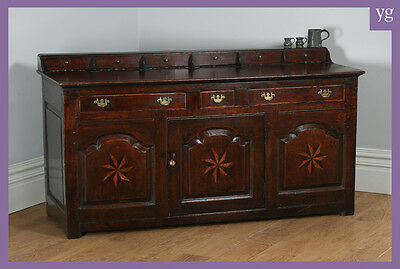 Antique Welsh Machynlleth Georgian Low Dresser Base Sideboard Cupboard Cabinet