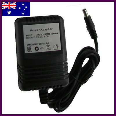 9 VOLT POWER SUPPLY ADAPTER 9V AC ALESIS 240v WALL AUS APPROVED  PP02