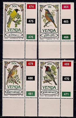 Venda 1985 Song Birds Nature Wildlife 4v set MNH/1