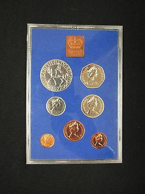 Coinage Of Great Britain And Norther Ireland 1977 Proof Set **free Shipping!