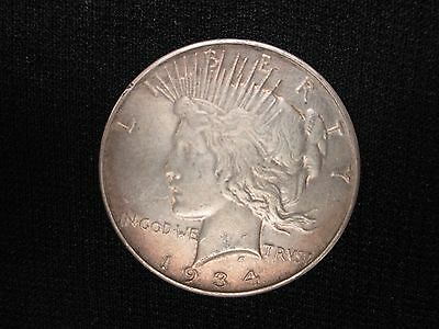 1934 D Peace Dollar Silver Coin **rare Date Plus Free Shipping!