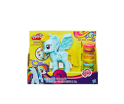 New Play Doh My Little Pony Rainbow Dash Children Modeling Creative Coloured Toy