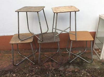 Military / Lab Stool Vintage Antique Industrial Midcentury