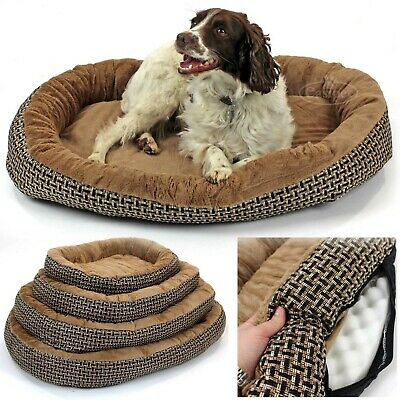 Deluxe Orthopaedic Soft Dog Bed Pet Warm Basket Fleece Lining Cushion Puppy Cat