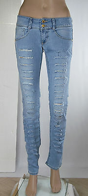 Jeans Donna Pantaloni MET Slim Fit Made in Italy Angel SA109 Tg 26 27