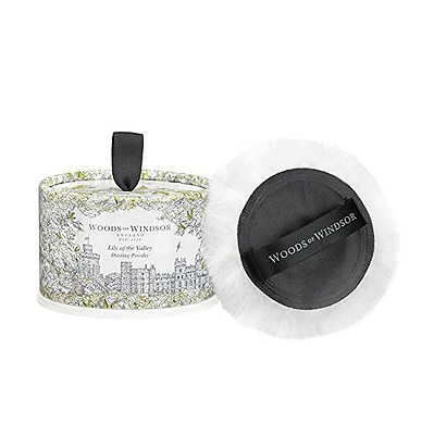 Woods of Windsor Body Dusting Powder with Puff for Women, Lily of The Valley, 3.