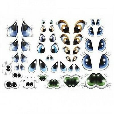 28 pairs eyes foam thermoformable for doll or figure Fofucha