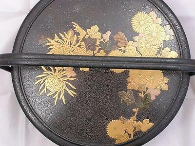 Antique Japanese lacquer basket for the tea ceremony (chabitsu) 1850-1900 #3842