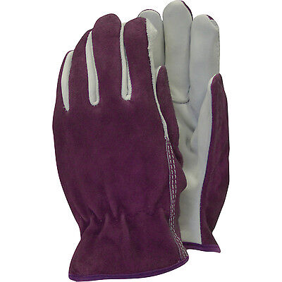 Town & Country Premium Leather & Suede Ladies Gloves M