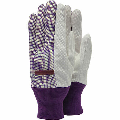 Town & Country Polka Dot Cotton Grip Ladies Gloves One Size