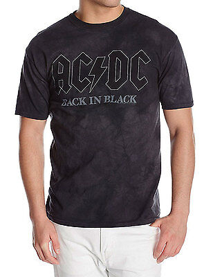 AC/DC Back In Black Tie Dye Adult T-Shirt -Rock & Roll Band Angus Young Axl Rose