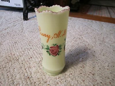 Souvenir Crary, N.D Custard Glass Vase Excellent!!!