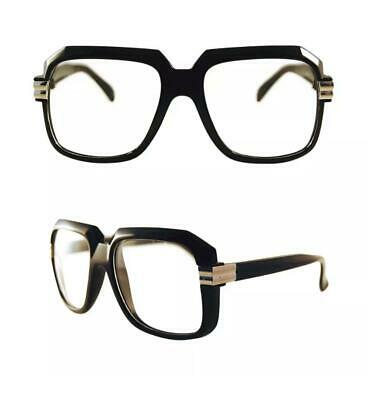 Men's Women vintage retro Style Clear Lens eye glasses thick black fashion frame