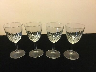 Set Of 4 Vintage Crystal Wine Glasses