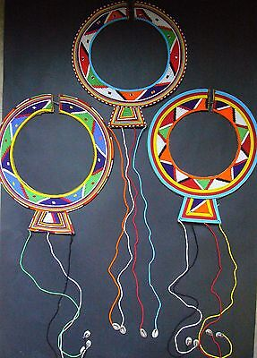 New African Ethnic Tribal Masai Bead Collar Necklace Jewellery - Craft Gift