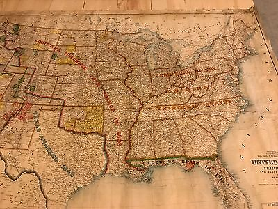 United States and Territories 5' x 7' Map Original 1899 Dept of Int. Harry King