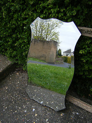 Vintage Original Gorgeous Art Deco Shaped Large Hall/Wall Mirror