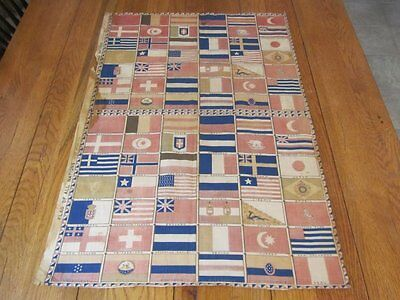 RARE c 1876 Flag of All Nations CENTENNIAL Fabric