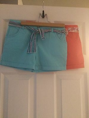 2 Pairs Of Primark Girls Shorts Age 7-8