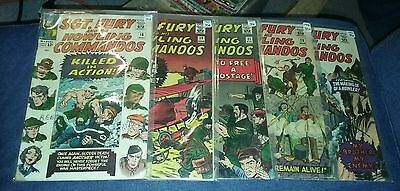 sgt fury and his howling commandos 18 19 21 28 36 silver age comics lot movie