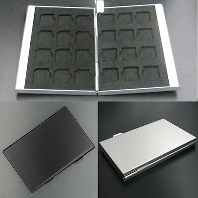 Aluminum Memory Card Storage Case Large Capacity Box For Micro SD Card 24TF