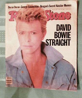David Bowie Rolling Stone music Magazine 395 May12 1983 Straight advertising