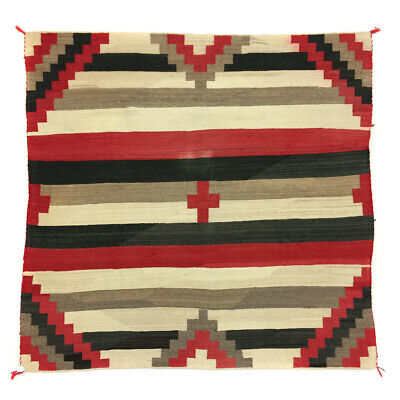 "c. 1920s Navajo Third Phase Chiefs Blanket, 74"" x 67"""