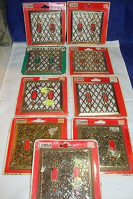 9 Vintage Nos Edmar Double Brass Light Switch Cover Filigree Faux Pearl