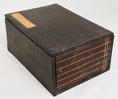 Antique Chinese Wood Storage Trinket Jewelry Box Case