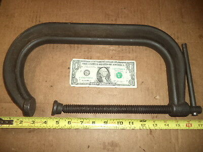 "Vintage Armstrong Deep 10"" C-Clamp, no. 78-410, Drop Forged Steel, made in USA"