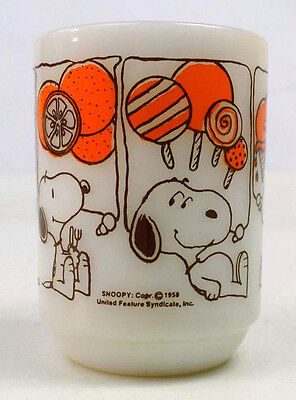 Vintage 50s Anchor Hocking Fire King Coffee Mug Charlie Brown Snoopy Coffee Cup