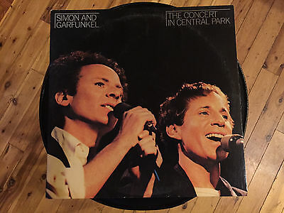 "Simon & Garfunkel -The Concert In Central Park -12"" vinyl LP record- Live 9/1981"