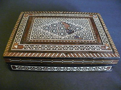 Hand Made Wooden Inlay Box from the Middle East - Egypt, Persia