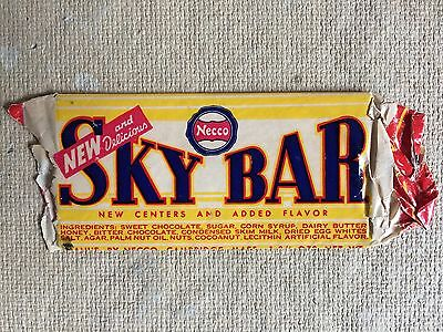 necco vintage candy bar SKY BAR 1939 wrapper patent
