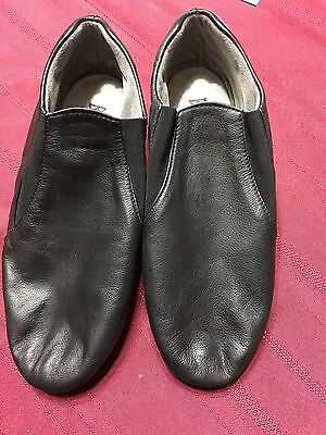 Bloch Black Leather Dance Shoes Jazz Hip Hop Women's Size 5.5 Slip Ons Child