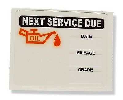 Oil Change Reminder Static Cling Sticker