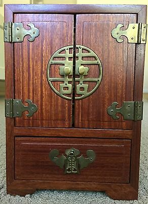 Antique Chinese Rosewood and Brass Jewelry Box Circa:1910-1920's