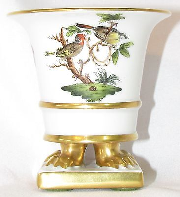 "1950's Herend Hungary Rotschild 3"" Claw Foot Vase"