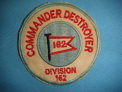 VIETNAM WAR PATCH US Navy COMMANDER DESTROYER DIVISION 162