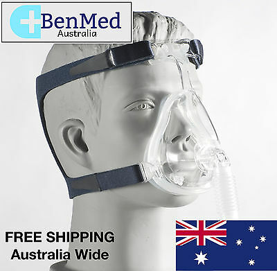 *BRAND NEW* DeVilbiss CPAP Full Face Mask and Headgear for Sleep Apnea - Medium