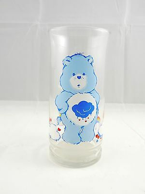 Vintage Pizza Hut Care Bears Grumpy Bear Character Collector Glass Tumbler