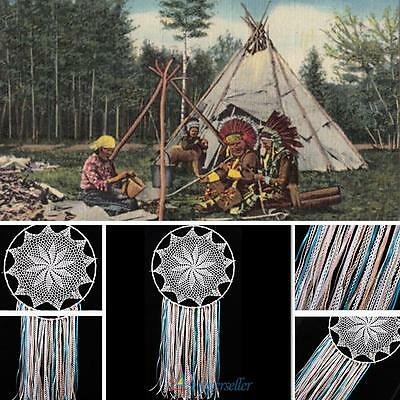 "Large Handmade Dream Catcher Home Wall Hanging Decoration Ornament-35.1"" White"