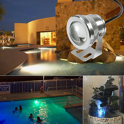 10W LED Underwater Spot Light Lamp For Water Aquarium Fountain Pond Fish Tank