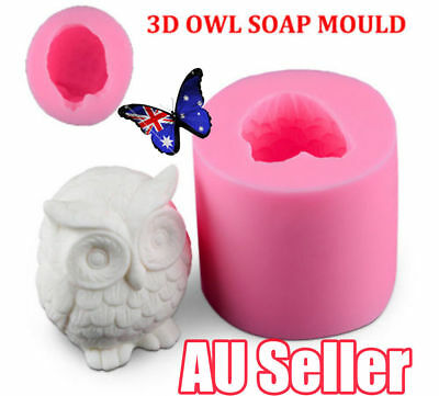 OWL 3D SOAP MOULD Candles/Melts,crafts, Silicone New Hand Crafted Mold NEW ON