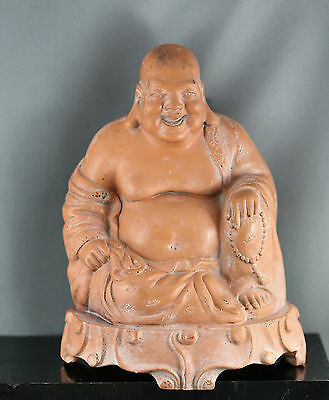 Very Nicely Carved Antique Chinese Soap Stone Happy Buddha