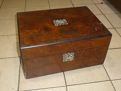 A Victorian Inlaid Maple? Sewing/Jewellery Box for Restoration c1860