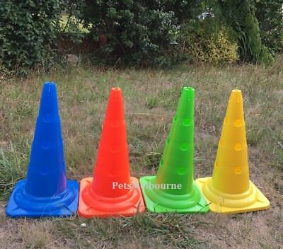 4pcs 52cm High Sports Cones Soccer Football Hole Cone Traffic Safety Sign Mark
