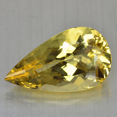 12.17 Cts FANCY QUALITY GOLDEN YELLOW COLOR NATURAL HELIDOR BERYL GEMSTONES