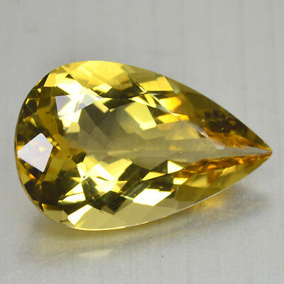 12.00 Cts FANCY QUALITY GOLDEN YELLOW COLOR NATURAL HELIDOR BERYL GEMSTONES