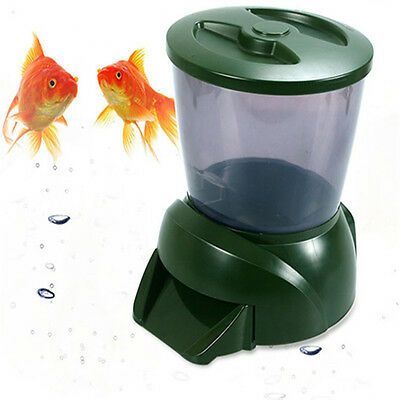4.25L Big New Automatic Pond Fish Feeder Digital Tank Pond Fish Food Timer ON